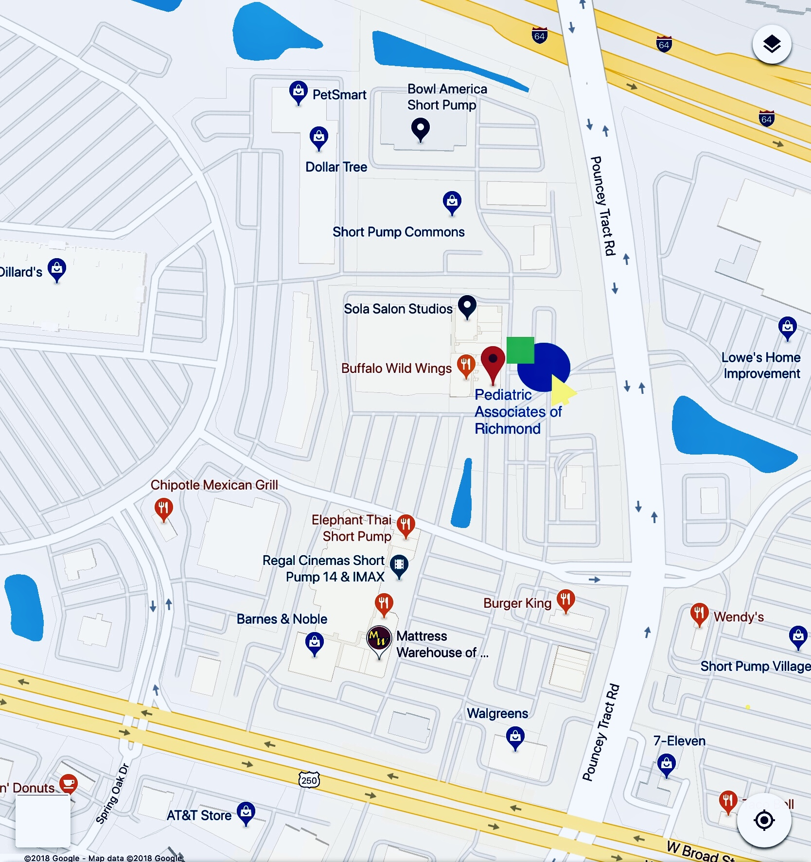SP Google map - Pediatric ociates of Richmond on